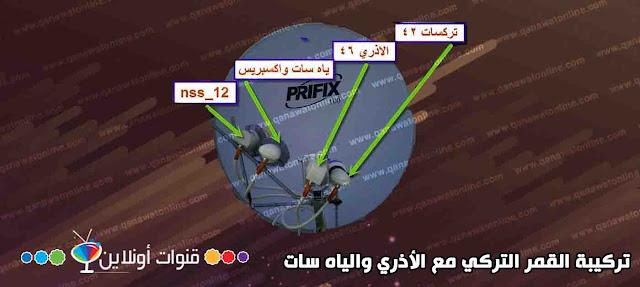 تركيب القمر التركي مع الأذري والياه سات