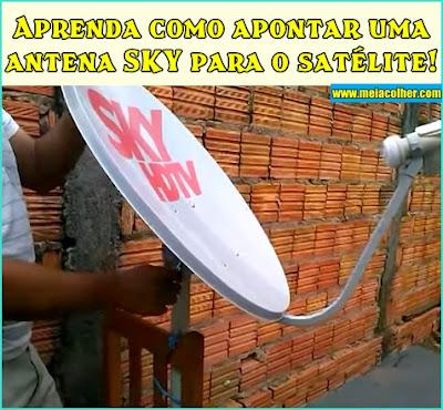 direção da antena sky