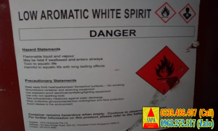 ow Aromatic White Spirit - Mineral Spirit - Dung môi 3040