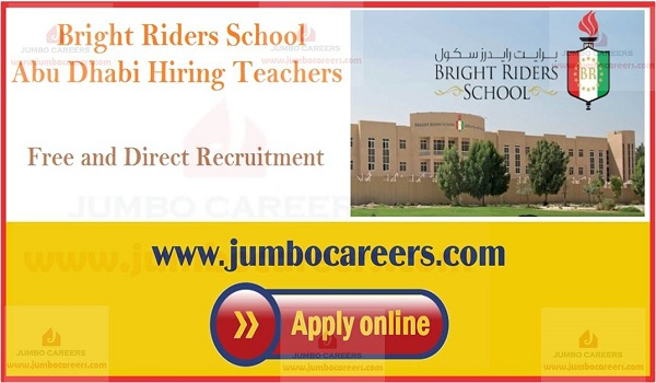Latest school job openings in Abu Dhabi, Available teachers jobs in UAE,