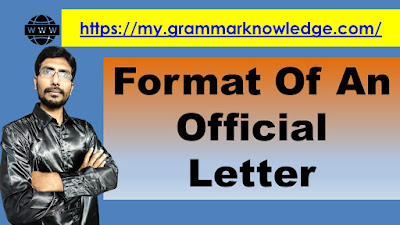 Format Of An Official Letter