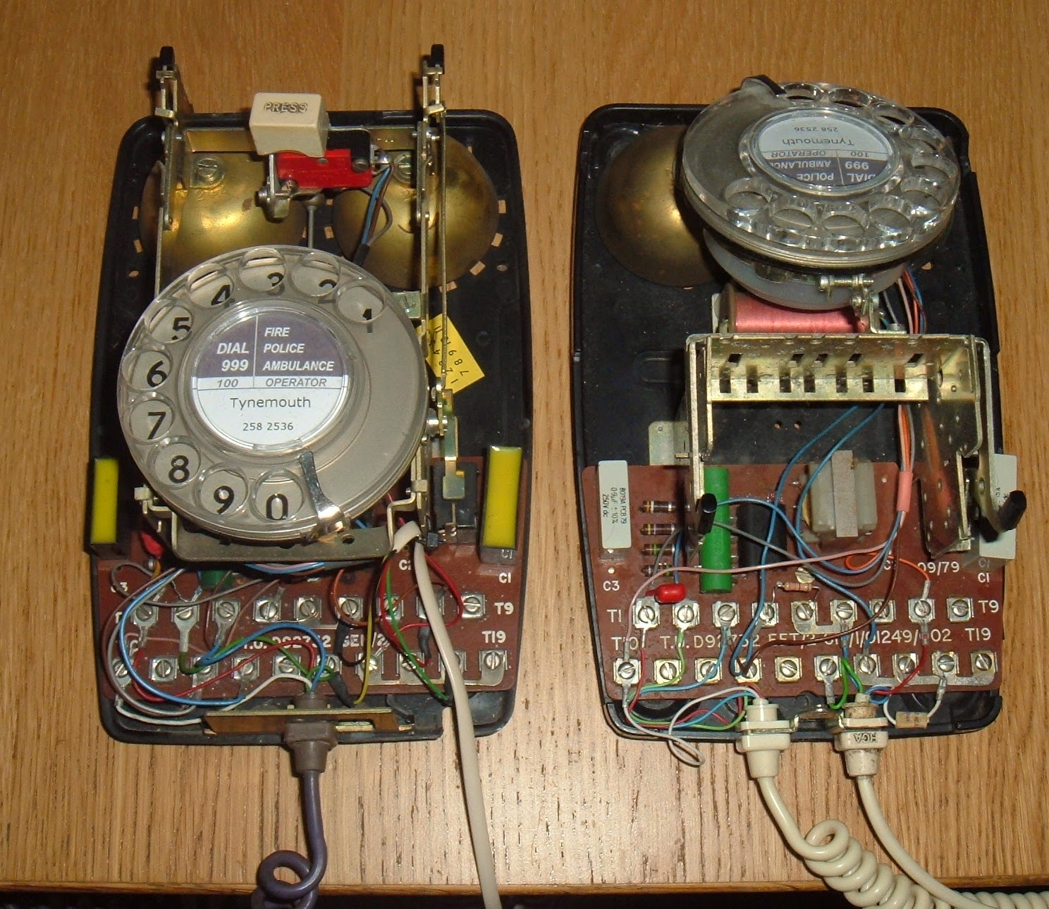 Old Dial Phone Wiring Modern Design Of Diagram Electrical Colours Tynemouth Software Bt 741 Wallphone Conversion In Homes