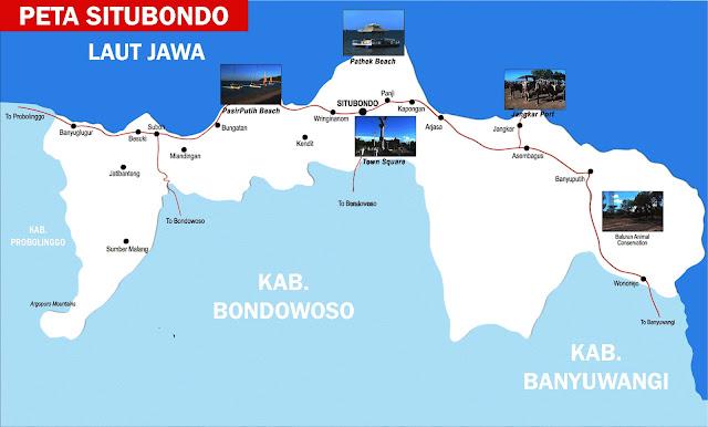 Gambar Peta Situbondo Lengkap 17 Kecamatan