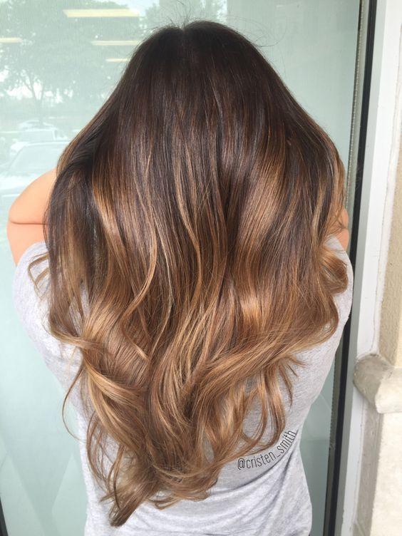 10 dark chocolate hair with caramel balayage