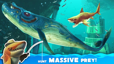 Tampilan Game Hungry Shark World