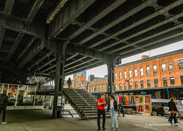 Acesso ao Parque High Line na Gansevoort Street