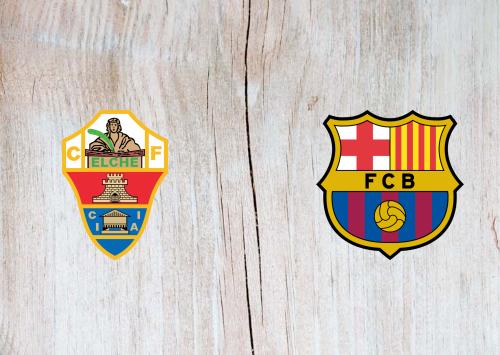 Elche vs Barcelona -Highlights 24 January 2021