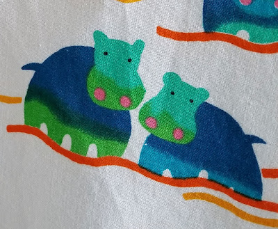 closeup hippo backing fabric