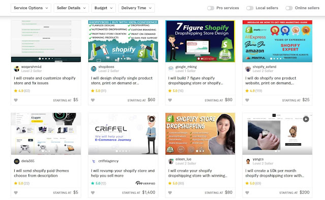 build your ecommerce store using fiverr