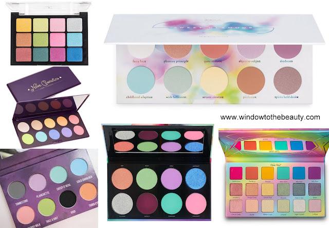 pastely eyeshadow palettes
