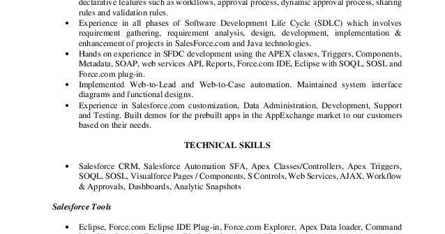 Download Senior Salesforce Developer Resume Sample Best