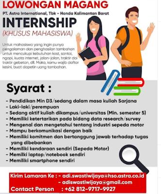 Astra International Buka Lowongan Magang Untuk Mahasiswa