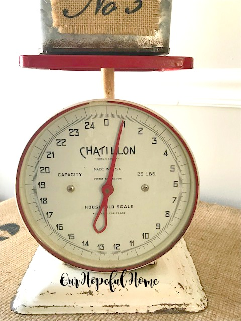 vintage Chatillon 25 pound household scale