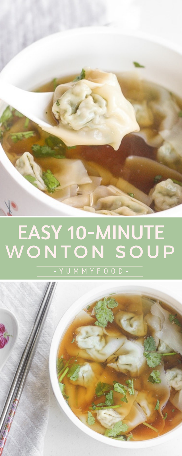 EASY 10-MINUTE WONTON SOUP