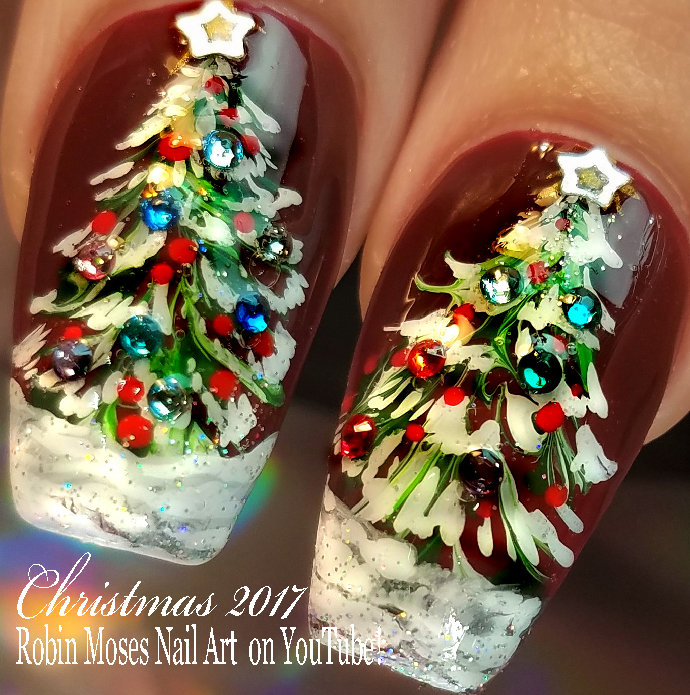 Nail Art by Robin Moses: Unicorn Christmas Nails | Diva Nail Art ...