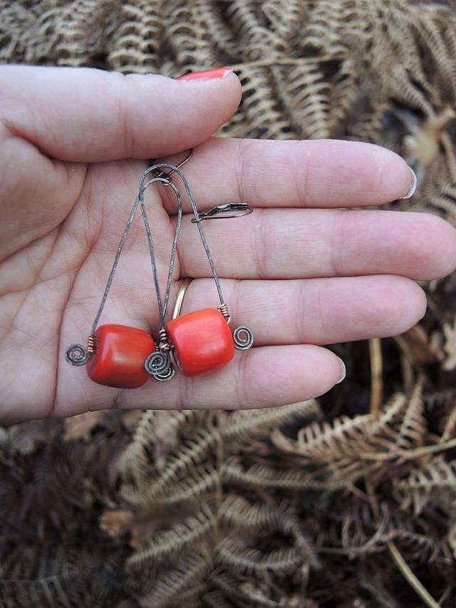 DIY oorbellen/earrings 'Becca'