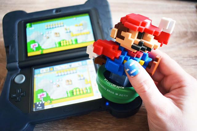 Espionage Cosmetics World 1-1 Super Mario Maker nail wraps Nintendo Nerdy Nails 3ds