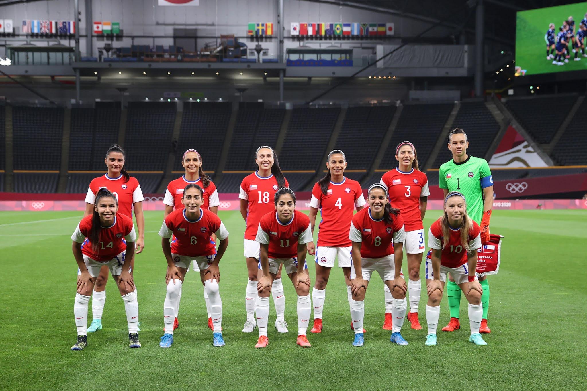 Formación de selección femenina de Chile ante Gran Bretaña, Juegos Olímpicos de Tokio 2020, 21 de julio de 2021