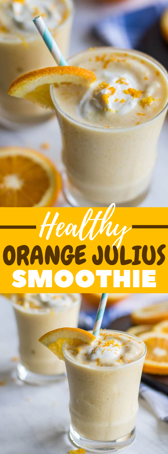 Healthy Orange Julius Smoothie #drink #healthydrink