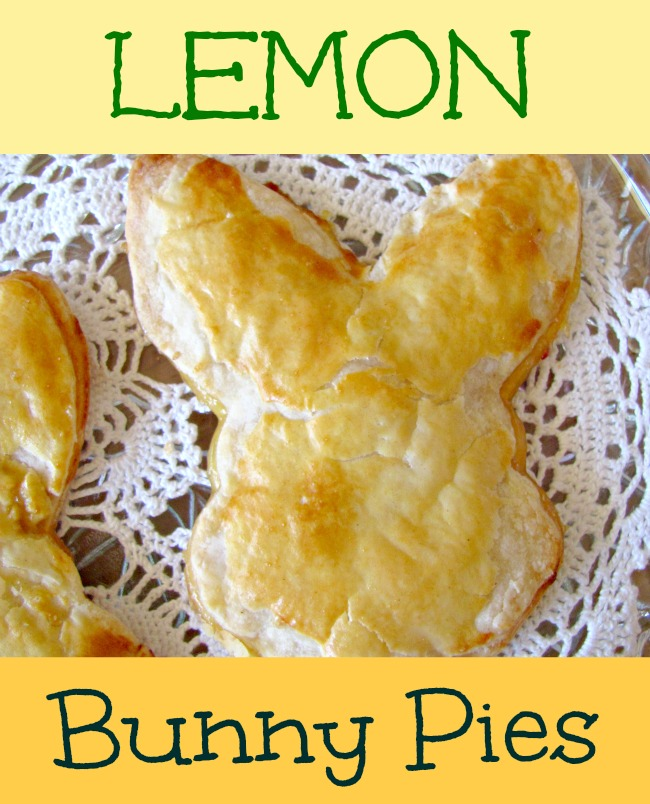 Hand pies in a bunny head shape