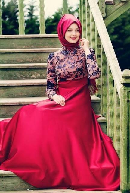 فستان سهرة و سواريه باللون الزهري موديل 2020