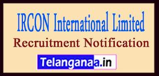 IRCON International Limited Recruitment Notificatio 2017 Last Date 16-04-2017