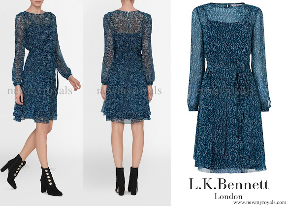 Crown Princess Mary wore LK Bennett Bryony Evergreen Silk Dress