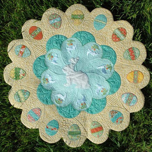 Easter Table Topper Free Pattern designed by Amanda Murphy Design