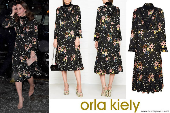 Kate Middleton wore Orla Kiely Margaret Smock Bib Floral Print Dress