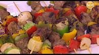 برنامج عمايل إيديا مع نورا السادات 13-1-2017 طريقة عمل أسياخ اللحم المشوية - حلقات البصل بالسبانخ