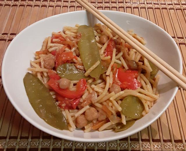 Veggies First Then Dessert - Vegetable Lo Mein