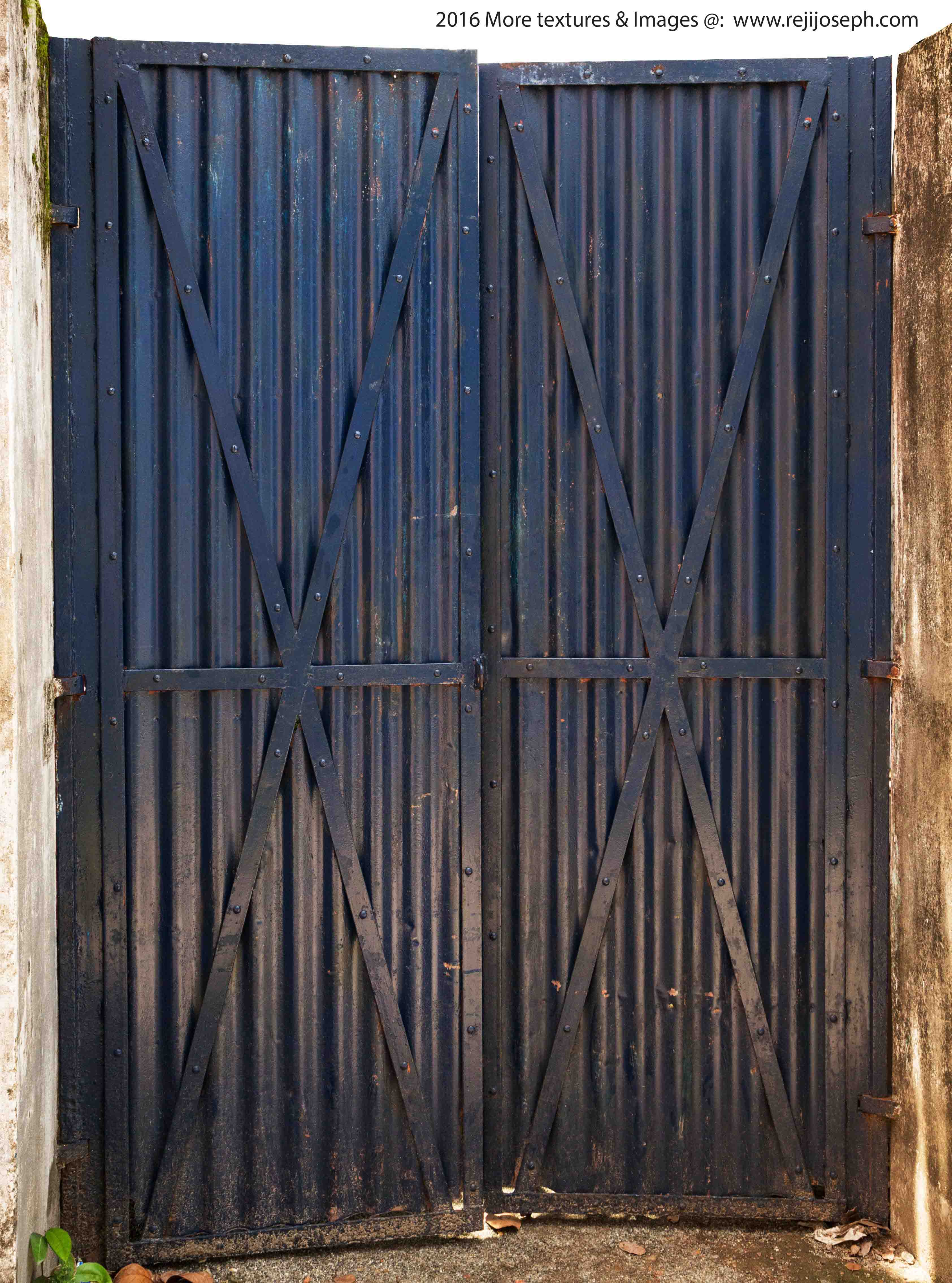 Painted metal gate texture 00001