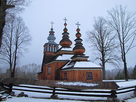 Cerkiew greckokatolicka pw. św. Michała Archanioła w Świątkowej Małej z 1762 roku.