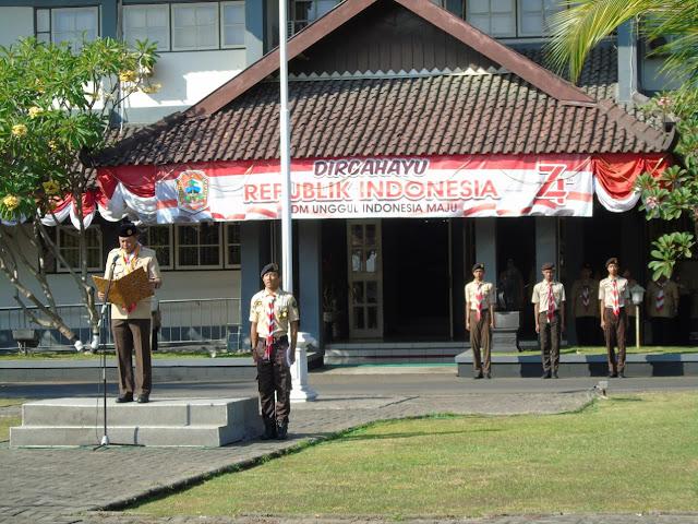 Kodim Karanganyar - Peringatan hari Pramuka ke 58 Kwartir CabangGerakan Pramuka Kabupaten Karanganyar