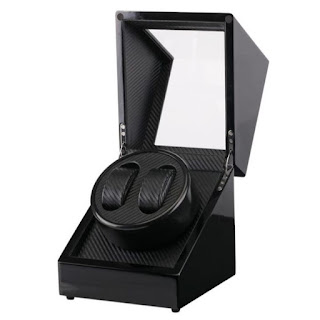 Watch Winder W113D-BT Pemutar Jam Tangan Otomatis 2 Slot Single Head