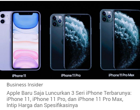 Iphone 11, Termurah di Jepang, Termahal di Republik Ceko, Berapa Harganya di Indonesia?
