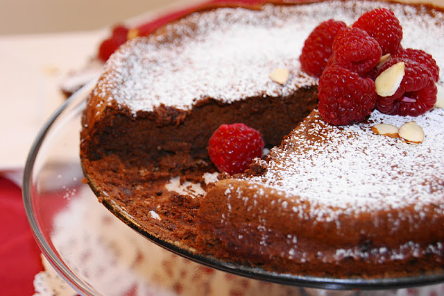 Chocolate Almond Flourless Cake