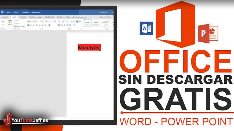 Usar Word o Power Point sin Descargar Nada - Tener Office Gratis