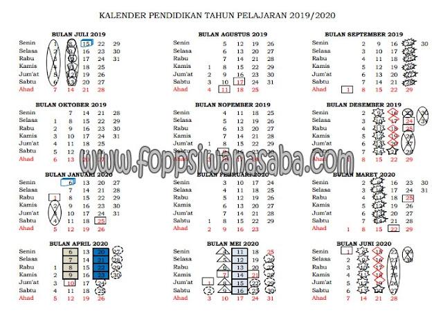 Kalender Pendidikan 2019//2020 Kabupaten Lombok Timur