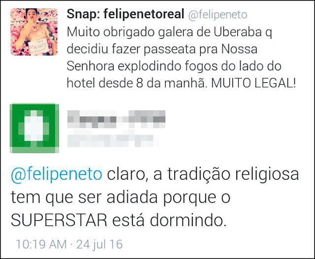 Zuando youtuber Felipe Neto