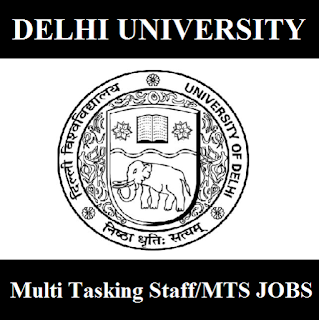 University of Delhi, DU, Delhi University, MTS, Multi Tasking Staff, 10th, Delhi, freejobalert, Sarkari Naukri, Latest Jobs, du logo