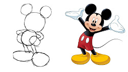 shapes basic using mouse simple draw mickey circles creative cartoons works nicholls oliver step squares clipartbest cylinders perhaps recognised constructed