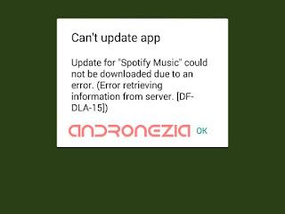 Cara Mengatasi Error DF-DLA-15 Play Store