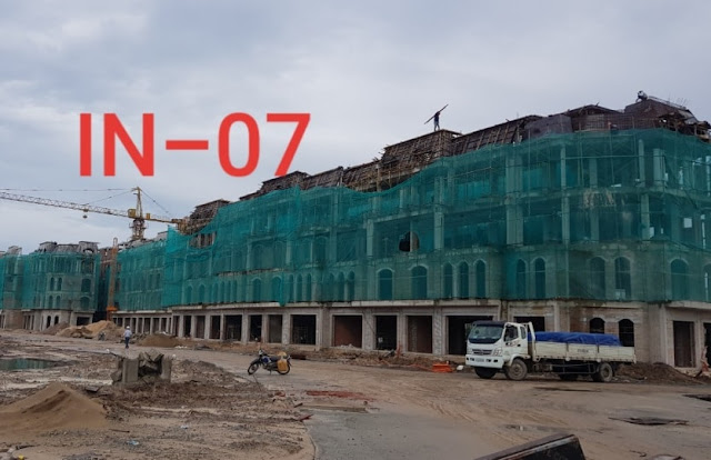tiến độ xây dựng shop grand world tháng 8 năm 2019
