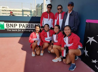 Peringkat Tim Tennis Indonesia Melonjak Drastis Fed Cup 2018