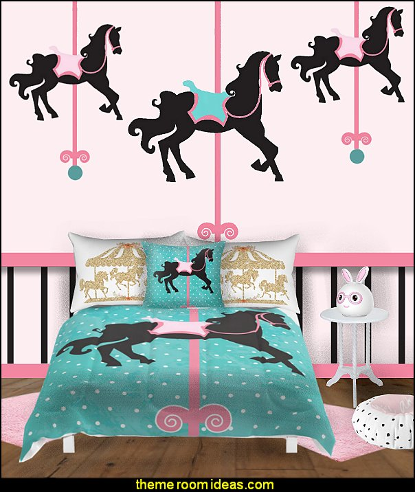 carousel theme bedroom ideas - carousel bedroom set - carousel horse theme girls bedrooms - carousel horse decor -  carousel merry go round wall decals - carousel theme baby bedrooms - girls bedrooms theme - carousel horse nursery theme - carousel themed nursery   carousel horse theme bedroom maries manor kids theme bedrooms
