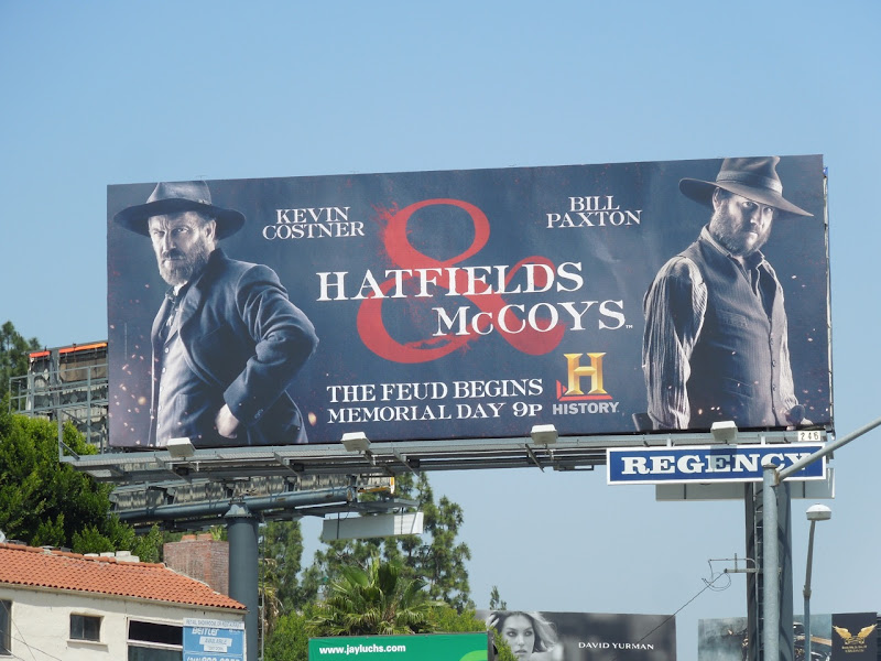 Hatfields and McCoys History TV billboard