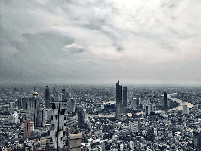 Bangkok City from Highest point Mahanakhon Skywalk