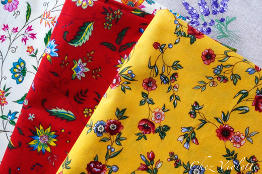 French provencal fabric by Chez Violette