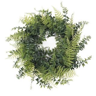 faux fern wreath